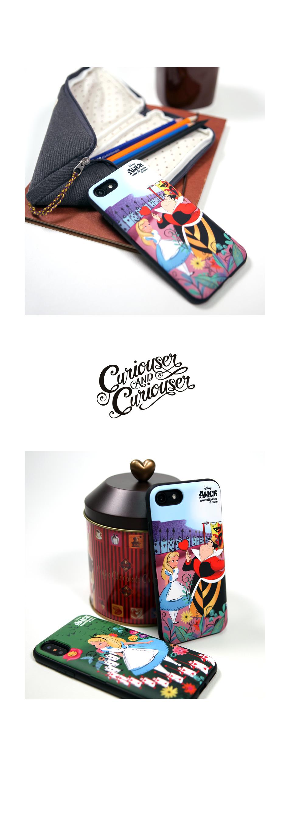 디즈니 앨리스 카드 케이스 퀸스가든 - 스토리너스, 25,000원, 케이스, 아이폰X